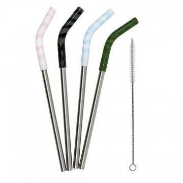 Mizu Reuseable Stainless Steel Straw Set Assorted