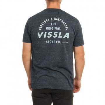 Vissla Trimline Tee Midnight Heather