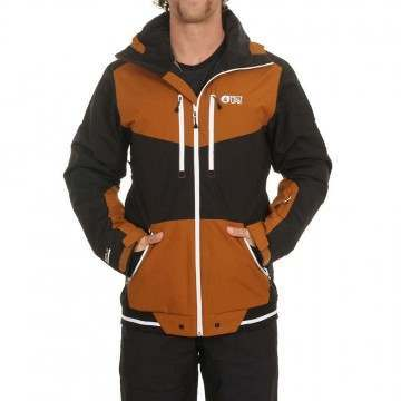 Picture Panel Snow Jacket Camel