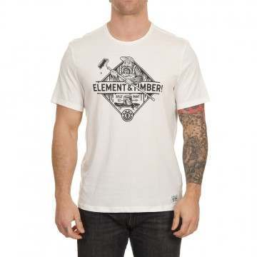 Element Rolling Tee Off White