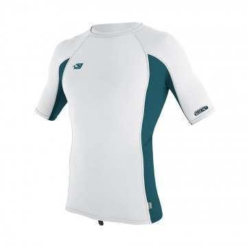ONeill Premium Skins Short Sleeve Rash Vest White