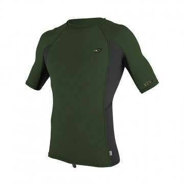 ONeill Premium Skins Short Sleeve Rash Vest Olive