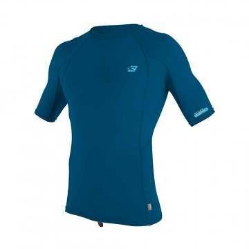 ONeill Premium Skins Short Sleeve Rash Vest Blue