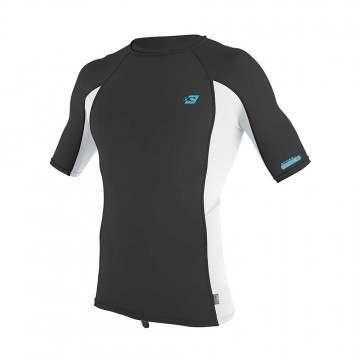 ONeill Premium Skins Short Sleeve Rash Vest Raven