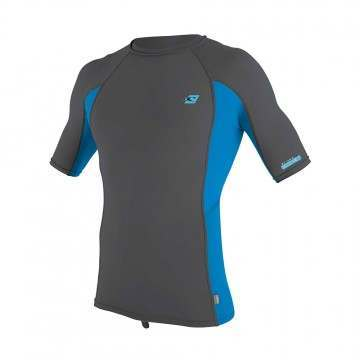 ONeill Premium Skins Short Sleeve Rash Vest Smoke