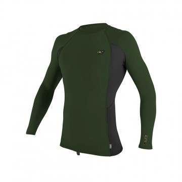 ONeill Premium Skins Long Sleeve Rash Vest Olive