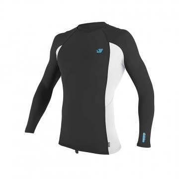 ONeill Premium Skins Long Sleeve Rash Vest Raven