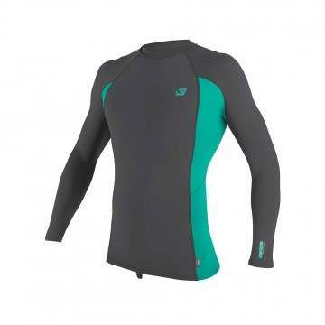 ONeill Premium Skins Long Sleeve Rash Vest Smoke