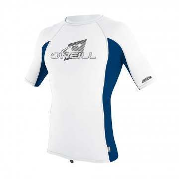 ONeill Youth Skins Short Sleeve Rash Vest White