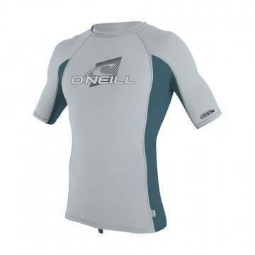 ONeill Youth Skins Short Sleeve Rash Vest Grey