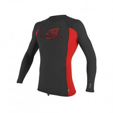 ONeill Youth Premium Long Sleve Rash Vest Raven
