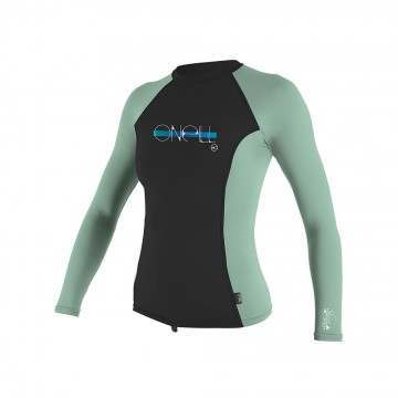 ONeill Girls Skins Long Sleeve Rash Vest Oil