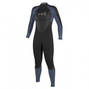 ONeill Womens Epic 3/2 Back Zip Wetsuit Black/Mist