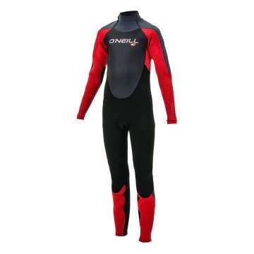 ONeill Youth Epic 3/2 Back Zip Wetsuit Black/Red