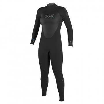ONeill Womens Epic 5/4 Back Zip Wetsuit Black