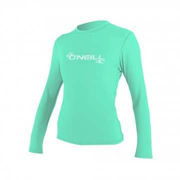 ONeill Womens Basic Skins Long Sleeve Tee Aqua