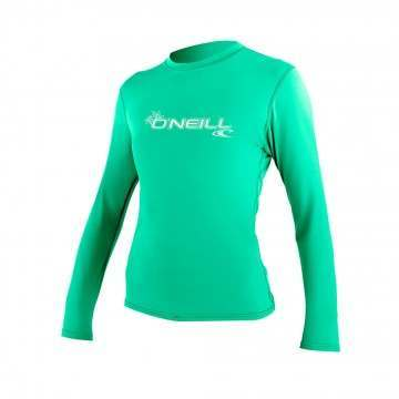 ONeill Womens Basic Skins Long Sleeve Tee SeaGl