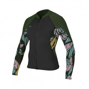 ONeill Womens Bahia Full Zip 1mm Wetsuit Jacket Bk