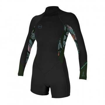 ONeill Bahia 2/1 Back Zip Summer Shorty Black