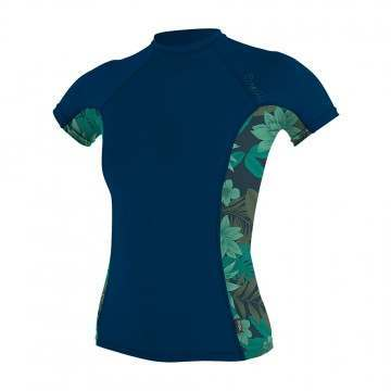 ONeill Womens Side Print Rash Vest Abyss