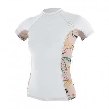 ONeill Womens Side Print Rash Vest White