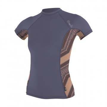 ONeill Womens Side Print Rash Vest Dusk