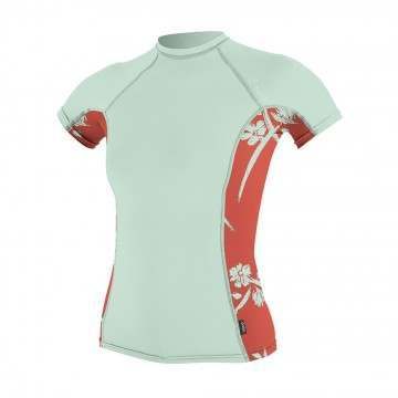 ONeill Womens Side Print Rash Vest Mint