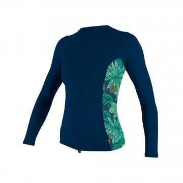 ONeill Womens Side Print Long Sleeve Rash Vest Aby