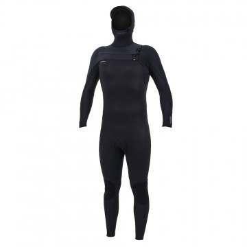 ONeill Hyperfreak 4/3+ FZ Hooded Wetsuit Black