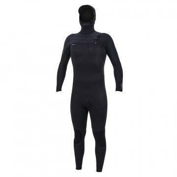 ONeill Hyperfreak 5/4+ FZ Hooded Wetsuit Black