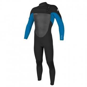 ONeill Epic 4/3 FZ Wetsuit Blk/Brt Blue