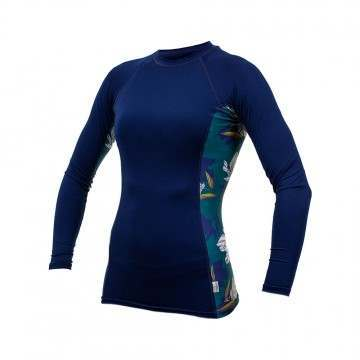 ONeill Womens Side Print Long Sleeve Rash Vest Fre