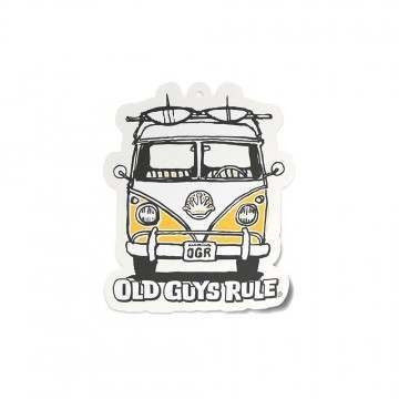 Old Guys Rule Good Vibes Air Freshner Yellow Van