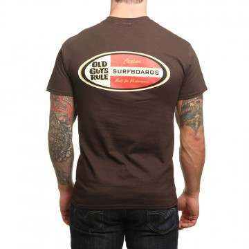 Old Guys Rule Custom Boards Tee Chocolate