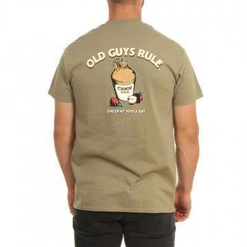 Old Guys Rule Five A Day Tee Prairie Dust