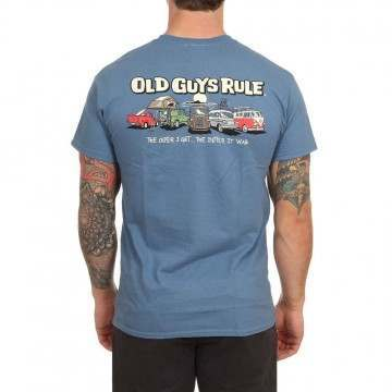 Old Guys Rule Parking Lot 3 Tee Indigo Blue