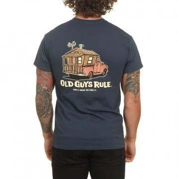 Old Guys Rule Home Is Where Tee Blue Dusk