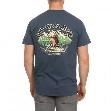 Old Guys Rule Dogs Best Friend 3 Tee Blue Dusk