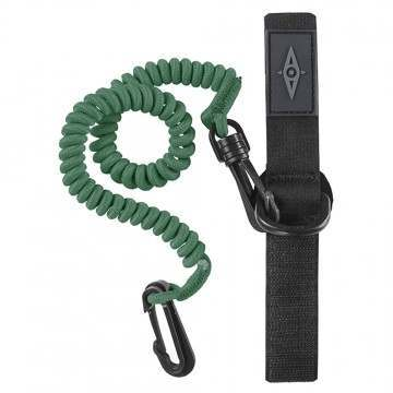 Ocean Kayak Paddle Leash Coiled Dark Green