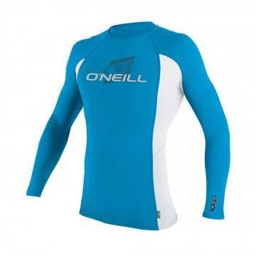 ONeill Kids Skins Long Sleeve Rash Vest Sky