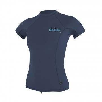 ONeill Womens Skins Short Sleeve Rash Vest Slate