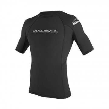 ONeill Basic Skins Short Sleeve Rash Vest Black
