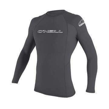 ONeill Basic Skins Long Sleeve Rash Vest Black