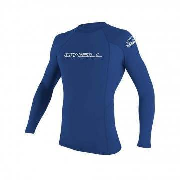 ONeill Basic Skins Long Sleeve Rash Vest Pacific