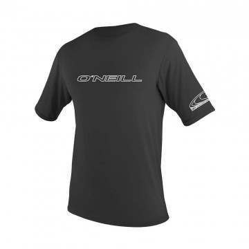 ONeill Basic Skins Short Sleeve Rash Tee Black
