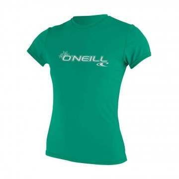 ONeill Womens Basic Skins Short Sleeve Tee SeaGl