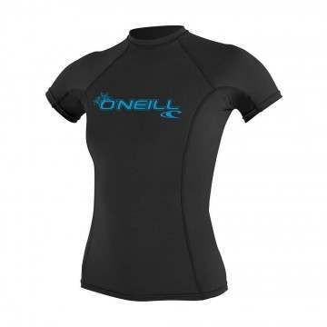 ONeill Womens Basic Skins Rash Vest Black