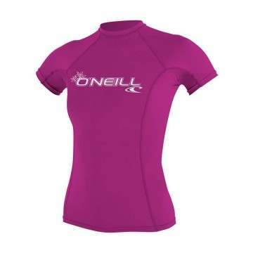 ONeill Womens Basic Skins Rash Vest Fox Pink