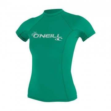 ONeill Womens Basic Skins Rash Vest Sea Glass