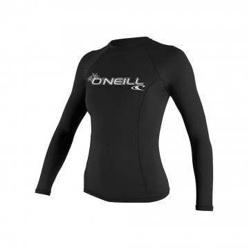 ONeill Womens Basic Long Sleeve Rash Vest Black